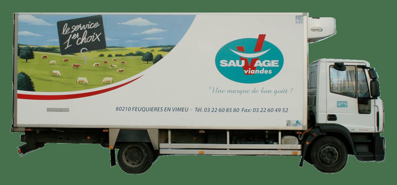 Camion livraison Sauvage Viandes